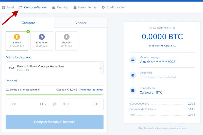vender bitcoin en coinbase
